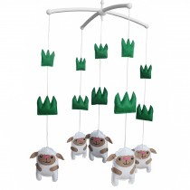[Sheep] Baby Crib Dreams Mobile Crib Hanging Bell