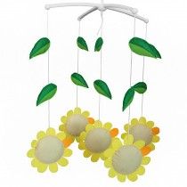 [Sunflower] Creative Toddler Rotate Crib Musical Mobile
