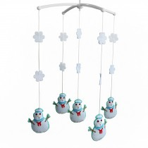 [Snowman] Baby Infant Musical Mobile Bed Crib Hanging Rotating Bell