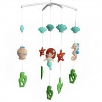 Creative Baby Crib Rotatable Musical Mobile [Mermaid and Starfish]