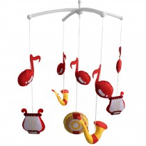 [Musical Note] Cute Bed Bell Baby Crib Rotatable Musical Mobile
