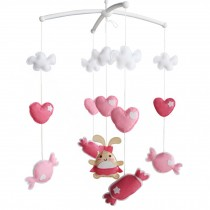 [Sweet Candy] Musical Mobile for Baby, Rotating Crib Mobile