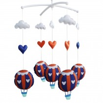 [Tour Around] Creative Crib Musical Mobile, Hanging Toys, Hot-air Balloon