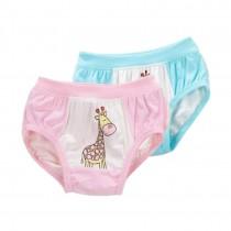 Set of 2, Cartoon Giraffe Underwear Girls' Comfortable Panties
