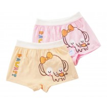 2PCS, Lovely Cartoon Elephant Underwear Girls Comfortable Panties