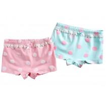 2PCS, Girls Comfortable Cotton Panties Lace Underwears