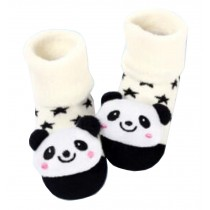 [Panda] Thick Infant Toddler Cotton Socks for Baby, 6-18 Months, 2 Pairs