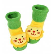 [Lion] Thick Infant Toddler Cotton Socks for Baby, 6-18 Months, 2 Pairs