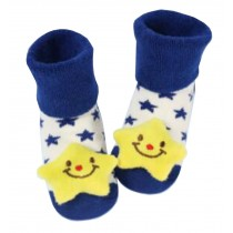 [Star] Thick Infant Toddler Cotton Socks for Baby, 6-18 Months, 2 Pairs