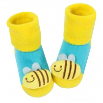 [Bee] Thick Infant Toddler Cotton Socks for Baby, 6-18 Months, 2 Pairs