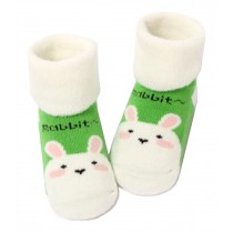 [Rabbit] Thick Infant Toddler Cotton Socks for Baby, 1-3 Years, 2 Pairs