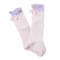 [Bow Pink] Lovely Baby Knee High Stockings Tube Socks for Children