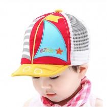 Baby Durable Summer Hat Fashion Mesh Cap Boy Girl Sun Cap Sailboat Cap Red