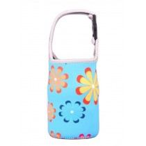 Lovely Baby Bottle Tote Bag Food Jar Tote Bag Lunch Box Bag Flower