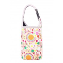 Lovely Baby Bottle Tote Bag Food Jar Tote Bag Lunch Box Bag Colorful Dot