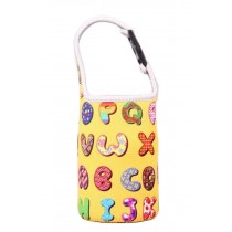 Lovely Baby Bottle Tote Bag Food Jar Tote Bag Lunch Box Bag Letter