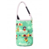 Lovely Baby Bottle Tote Bag Food Jar Tote Bag Insulated Lunch Box Bag Green