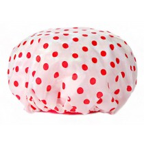 Poly&PVC Waterproof Multifunctional Double layer Shower Cap, Dot 3