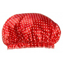 Poly&EVA Waterproof Multifunctional Double layer Shower Cap, Dot 4