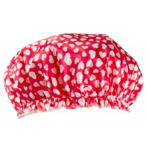 Poly&EVA Waterproof Multifunctional Double layer Shower Cap, Nice Heart