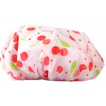 Waterproof Double Layer Adult Bath Shower Cap Bathing Cap Lovely Shower Cap