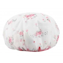 Waterproof Double Layer Adult Bath Shower Cap Bathing Cap Flower