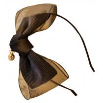Big Bowknot Hairpin Hair Band Korea Headwear Black