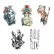 Set Of 5 Lovely Tattoo Paste Ankle Arm Tattoo Paste Personality Tattoos