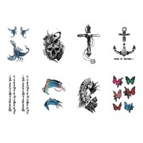 Set Of 8 Lovely Tattoo Paste Ankle Arm Tattoo Paste Personality Tattoos