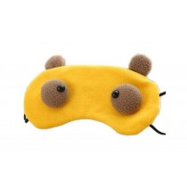 Creative Cartoon Eye Mask Funny Soft Eyeshade Ice Compress Eye Mask Yellow