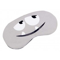 Cute Face Eye Cover Cloth Travel Sleep Goggles Siesta Eye Mask Gray