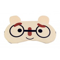 Eyeshade Travel Sleep Goggles Cute Face Eye Cover Cloth Siesta Eye Mask