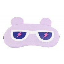 Eyeshade Travel Sleep Goggles Cute Face Eye Cover Eye Mask Purple