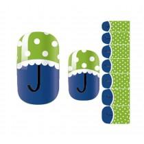 Set of 5 Lovely Nail Stickers Nail Decals DIY Nail Art Umbrella