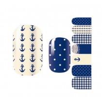 [Navy] Set of 5 Lovely Nail Stickers Nail Decals DIY Nail Art