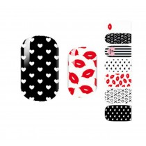 [Lips] Set of 5 Fashion Nail Stickers Nail Decals Manicure Tips