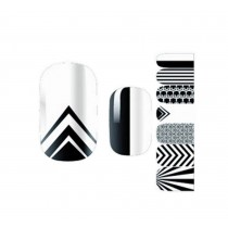 Set of 5 Stylish Nail Stickers Nail Decals Manicure Tips