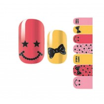 [Bow] Set of 5 Cute DIY Nail Stickers Decals for Nail Manicure Decals