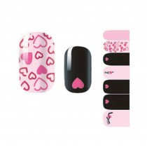 [Heart] Set of 5 Lovely DIY Nail Stickers Decals Manicure Decals