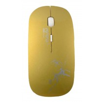 Creative Wireless Mouse Ultra-thin Mouse Gaming Mouse Golden