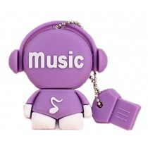 Purple Doll 32GB USB 2.0 Flash Drive High Speed USB Flash Disk / Memory Stick