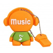 Orange Doll 32GB USB 2.0 Flash Drive High Speed USB Flash Disk / Memory Stick