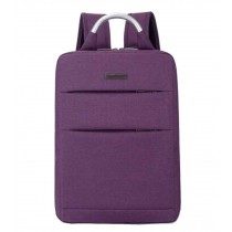 Simple Style Laptop Backpack Business Backpack Travel Bag Purple