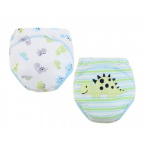 [Dinosaur] Baby Toilet Training Pants Nappy Underwear Cloth Diaper 15.4-26.4Lbs
