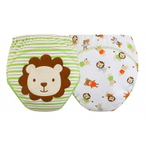 Green Lion Baby Toilet Training Pants Nappy Underwear Cloth Diaper 15.4-26.4Lbs