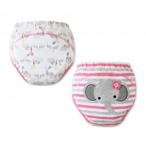 Cute Baby Toilet Training Pants Nappy Underwear Cloth Diaper 15.4-26.4Lbs