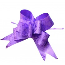 Rose Pattern Pull String Ribbons [Purple] 60PCS Gift Wrap Ribbons