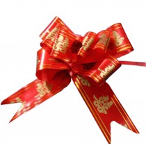 [Red] Chinese Character Wedding Decoration Pull String Ribbons, 60PCS