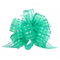 Set of 6 Pull String Bows Wrap Ribbon for Wedding Party [Green]