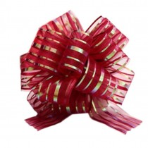 Set of 6, Pretty Wedding Pull Bow Burgundy Bridal Gift Wrap Bows